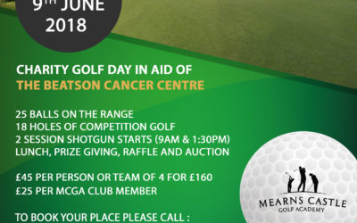 Sat 9th June – Beatson Cancer Charity Golf Day.